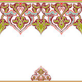 Vector ornate seamless border in Eastern style Royalty Free Stock Image