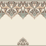 Vector ornate seamless border in Eastern style Stock Photo