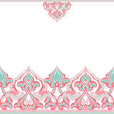 Vector ornate seamless border in Eastern style Stock Image
