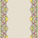 Vector ornate seamless border in Eastern style. Royalty Free Stock Photo