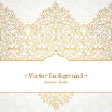 Vector ornate seamless border in Victorian style. Stock Images