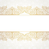 Vector ornate seamless border in Victorian style. Stock Photo