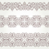 Vector ornate seamless border in Victorian style. Stock Photos