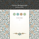 Vector ornate seamless border in Victorian style. Royalty Free Stock Image