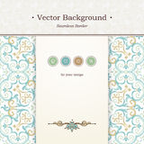 Vector ornate seamless border in Victorian style. Stock Photography