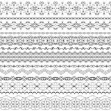 Vector ornate seamless borders in Eastern style.Line art vintage Royalty Free Stock Images