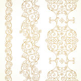 Vector ornate seamless borders in Eastern style. Stock Photo