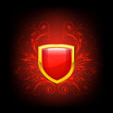 Vector ornate shield Royalty Free Stock Photos