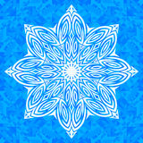 Vector ornate snowflake Stock Photo