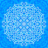 Vector ornate snowflake Royalty Free Stock Photography