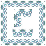 Vector ornate vintage frame border. Stock Image