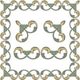 Vector ornate vintage frame border. Stock Images