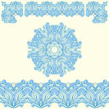 Vector ornate vintage frame border. Royalty Free Stock Image