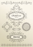 Vector ornate vintage frames Royalty Free Stock Image