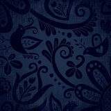 Vector ornate wallpaper with discreet floral ornaments. Royalty Free Stock Photo