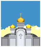 Vector Orthodox church Royalty Free Stock Images