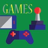 Vector os ícones do jogo e os sinais em linha e móveis - conceitos para o app Foto de Stock Royalty Free