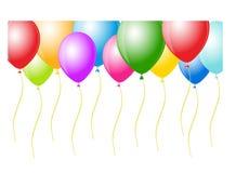 Vector os balões prontos para o aniversário e o partido ilustração royalty free