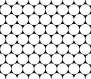 Vector os círculos sem emenda modernos do teste padrão da geometria, preto e branco Fotografia de Stock