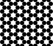 Vector os círculos sem emenda modernos do teste padrão da geometria, preto e branco Imagens de Stock