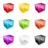 Vector os cubos de vidro Fotografia de Stock Royalty Free