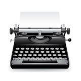 Vector oud schrijfmachinepictogram Stock Afbeeldingen