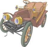Vector Oude convertibele auto royalty-vrije stock afbeeldingen