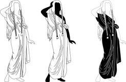 Vector oude Egyptenaren vector illustratie