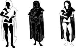 Vector oude Egyptenaren royalty-vrije illustratie