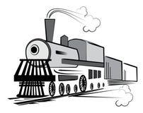 Vector oude trein Royalty-vrije Stock Fotografie