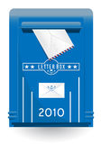 Vector ouderwetse brievenbus Royalty-vrije Stock Foto's