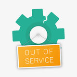 Vector out of sevice illustration. Royalty Free Stock Images