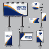 Vector Outdoor advertising design for company with color circles Royalty Free Stock Images
