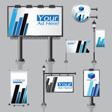 Vector Outdoor advertising design for company with color circles Royalty Free Stock Photography