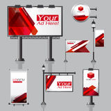 Vector Outdoor advertising design for company with color circles Royalty Free Stock Photos