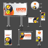 Vector Outdoor advertising design for company with color circles Stock Photography