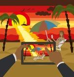 Vector Outdoors Cartoon Sea Landscape Royalty Free Stock Photos