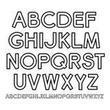 Vector outline Alphabet Royalty Free Stock Photo