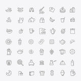 Vector outline breakfast icons Royalty Free Stock Photography
