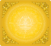 Vector of outline Buddha background Stock Photos