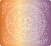 Vector of outline Buddha background Stock Photo