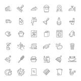 Vector outline cleaning icon Stock Photo