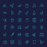 Vector outline cleaning icon Royalty Free Stock Images