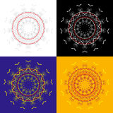 Vector outline emblems badges abstract hipster logo templates Royalty Free Stock Image