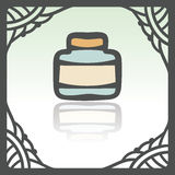 Vector outline empty glass pot icon. Modern infographic logo and pictogram. Stock Images