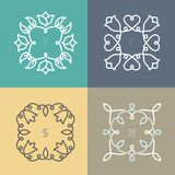 Vector outline frame set Royalty Free Stock Photo