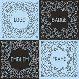 Vector outline frames and badges. Royalty Free Stock Photo