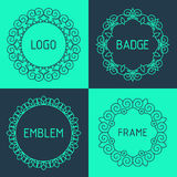 Vector outline frames and badges. Stock Photography