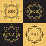 Vector outline frames and badges. Stock Images