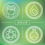 Vector outline logos - healthcare and medicine Royalty Free Stock Image